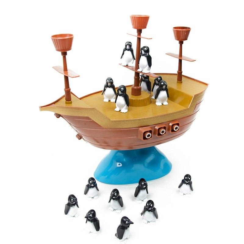 Cute Penguin Pirate Ship Balance Family Interaction Children Desktop Game Gift Educational Toys For Children