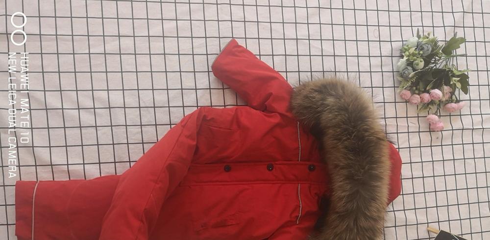 Bébé mère 2019 hiver réel fourrure de raton laveur à capuche neige porter des vêtements de dessus chauds vêtements de ski - 2