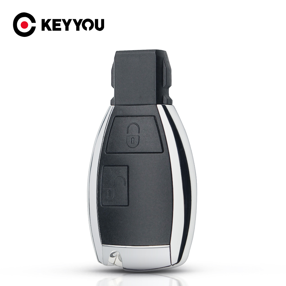 KEYYOU modifiye 2 düğmeler akıllı anahtar kovanı Fob kapak Mercedes Benz C B E sınıfı W203 W211 W204 YU BN CLS CLK akıllı anahtar