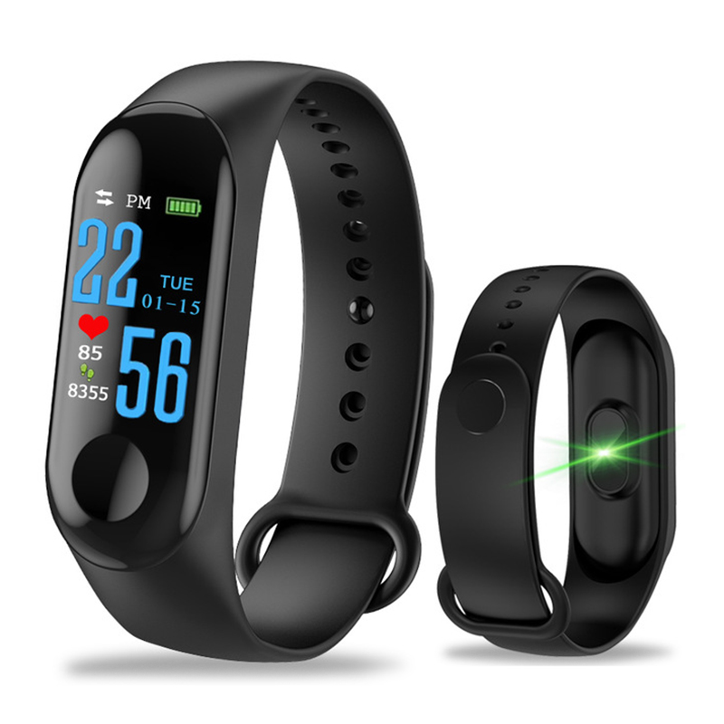 Latest M3 Smart Bracelet Color Touch Screen Fitness Tracker Blood Pressure Heart Rate Monitor Smart Band