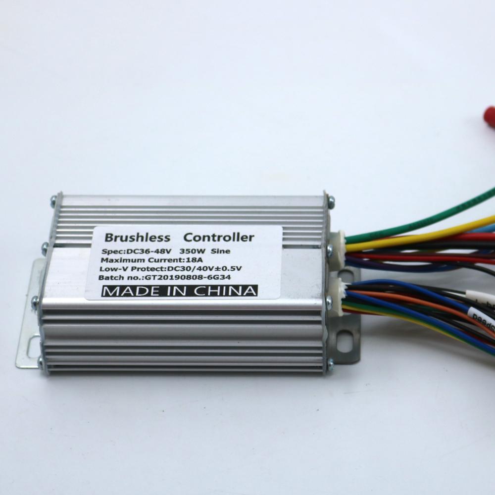 GREENTIME Sine Wave Controller 36V/48V 350W BLDC Motor Controller E-bike Brushless Speed Controller With Silent Start