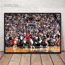 Картина на холсте в скандинавском стиле с изображением баскетбольной