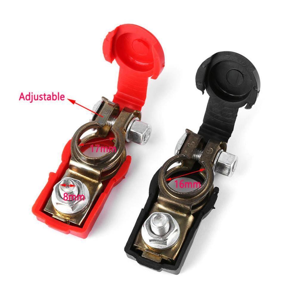 Auto <font><b>Car</b></font> <font><b>Battery</b></font> Terminal <font><b>Connector</b></font> <font><b>Battery</b></font> 1 Pair Quick Release <font><b>Battery</b></font> Terminals Clamps Cap Clips Copper For <font><b>Car</b></font> Truck Caravan image