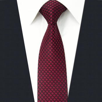 UZ25 Solid Red Burgundy Mens Slim Tie Silk Wedding Skinny Necktie Crimson 6cm Fashion