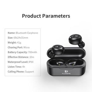 Image 5 - FLOVEME Bluetooth אלחוטי אוזניות אוזניות מיני TWS5.0 ספורט אוזניות אוזניות 3D סטריאו קול אוזניות מיקרו טעינת תיבה
