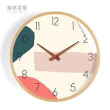 Деревянные настенные часы в европейском стиле современные креативные