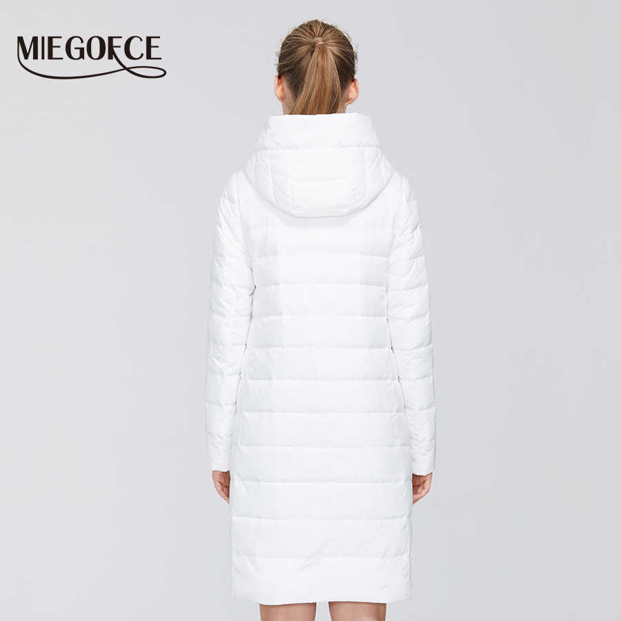 MIEGOFCE 2020 새 봄 여성 코 튼 자 켓 Windproof 코트 중간 긴 내구성 칼라 세련 된 여성 따뜻한 자 켓 파 카