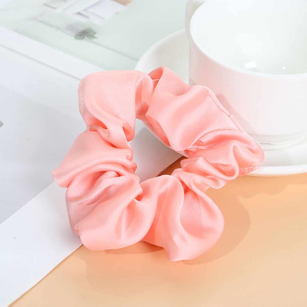 Opaska scrunchie 1 PC Silk pętli do włosów elastyczne opaski do włosów dla kobiet lub dziewcząt, akcesoria do włosów z pałąkiem na głowę gumki czy wlosow