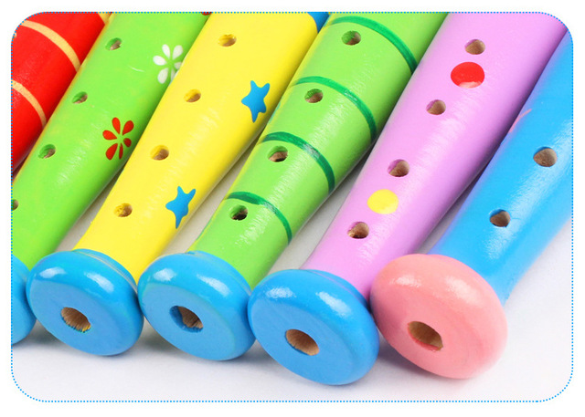 New Wooden Trumpet Buglet Hooter Bugle Educational Toy Gift For Kids Music Instrument Toys for children small Piccol
