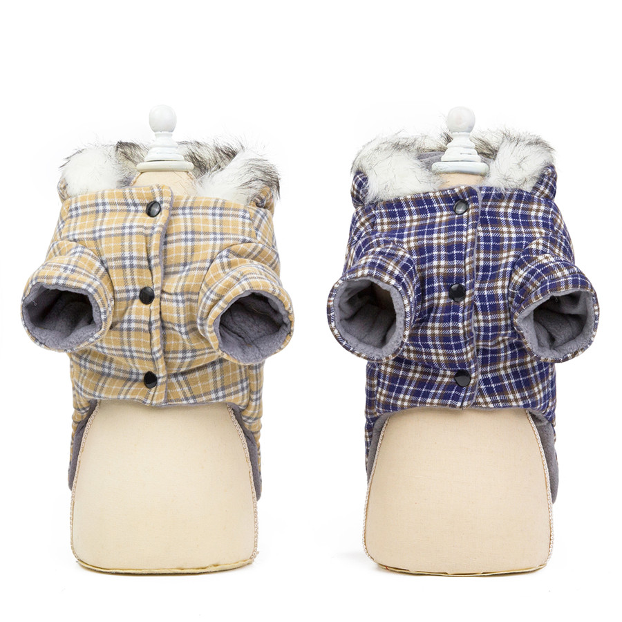 Thicken and Warm Dog Jacket with Hoodie and Pockets to Protect Dog from Cold 3