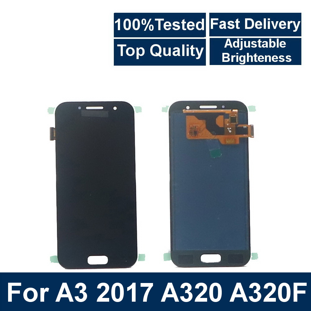 For <font><b>Samsung</b></font> Galaxy A3 2017 <font><b>A320</b></font> A320F A320M A320Y Phone <font><b>LCD</b></font> Display with Touch Screen Digitizer Assembly+ brightness adjustment image