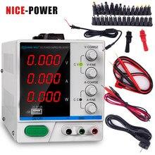 Alimentation électrique DC 30V, 10a, 4 écrans, régulateur de commutation réglable, pour la réparation d'un ordinateur portable, recharge USB 110v - 220v