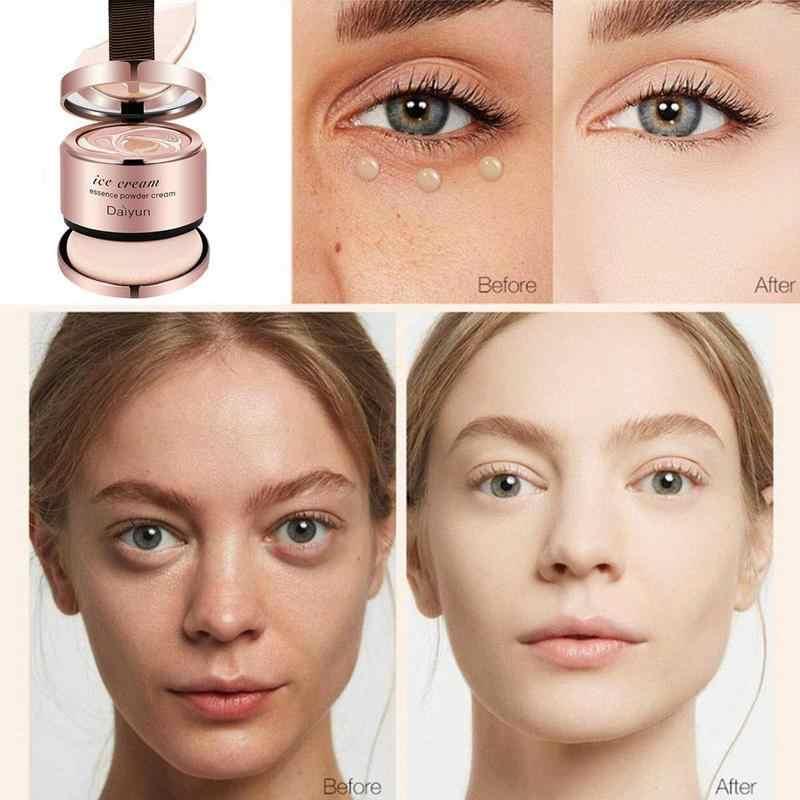 1 Pcs Es Krim Tabir Surya Air Cushion BB & CC Cream Concealer Pelembab Foundation Makeup Telanjang Whitening Face Cream
