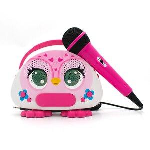 Crianças karaoke máquina com microfone de brinquedo para cantar