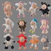 25 centimetri-75 centimetri Rosa Lucy pecora Piccolo agnello Il Ariete Fiore Del Copricapo Pecora Farcito Peluche Giocattolo, capretti del bambino del Regalo Della Bambola di Trasporto Libero