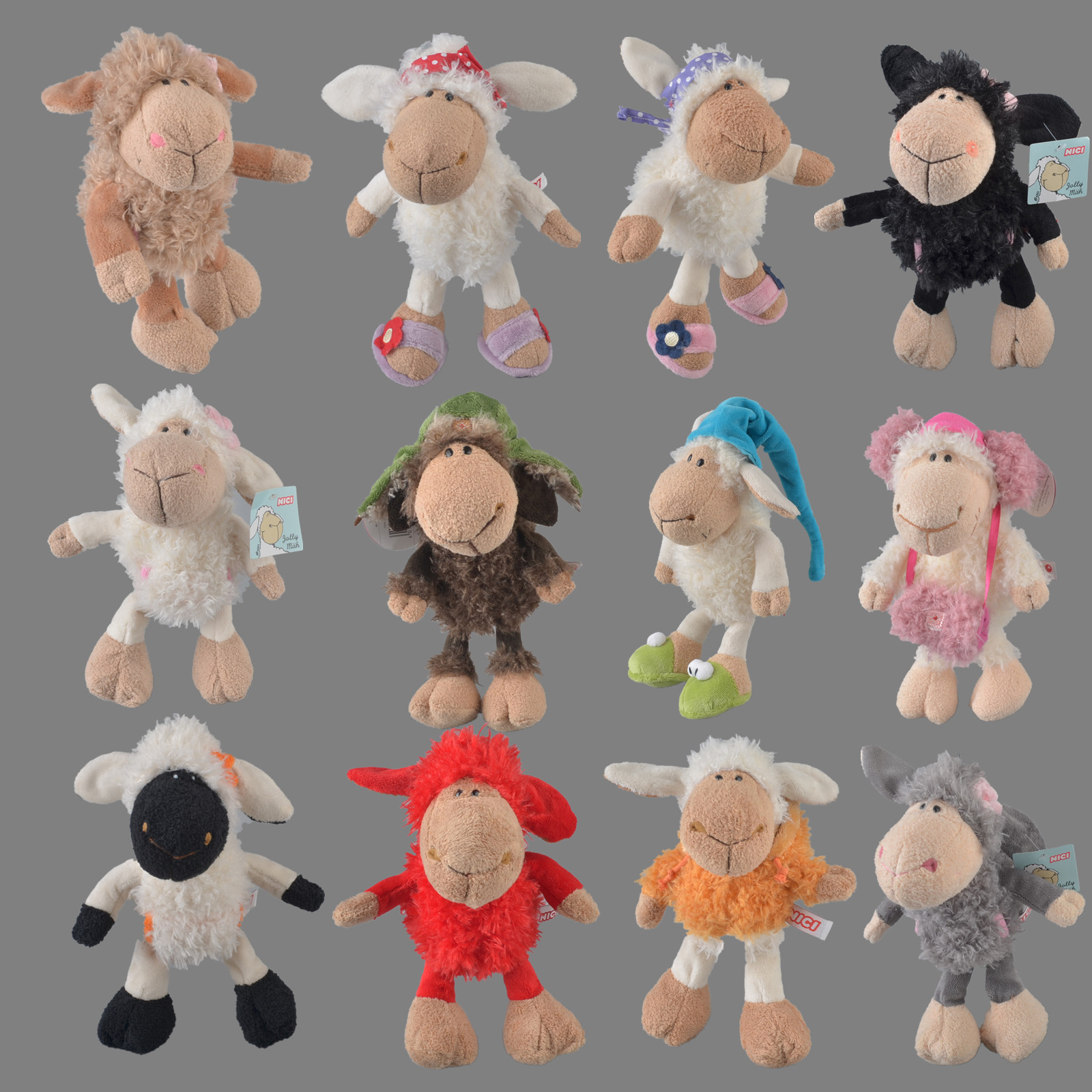 25cm-75cm Pink Lucy Sheep Little Lamb The Aries Headdress  Flower Sheep Stuffed Plush Toy, Baby Kids Doll Gift Free Shipping