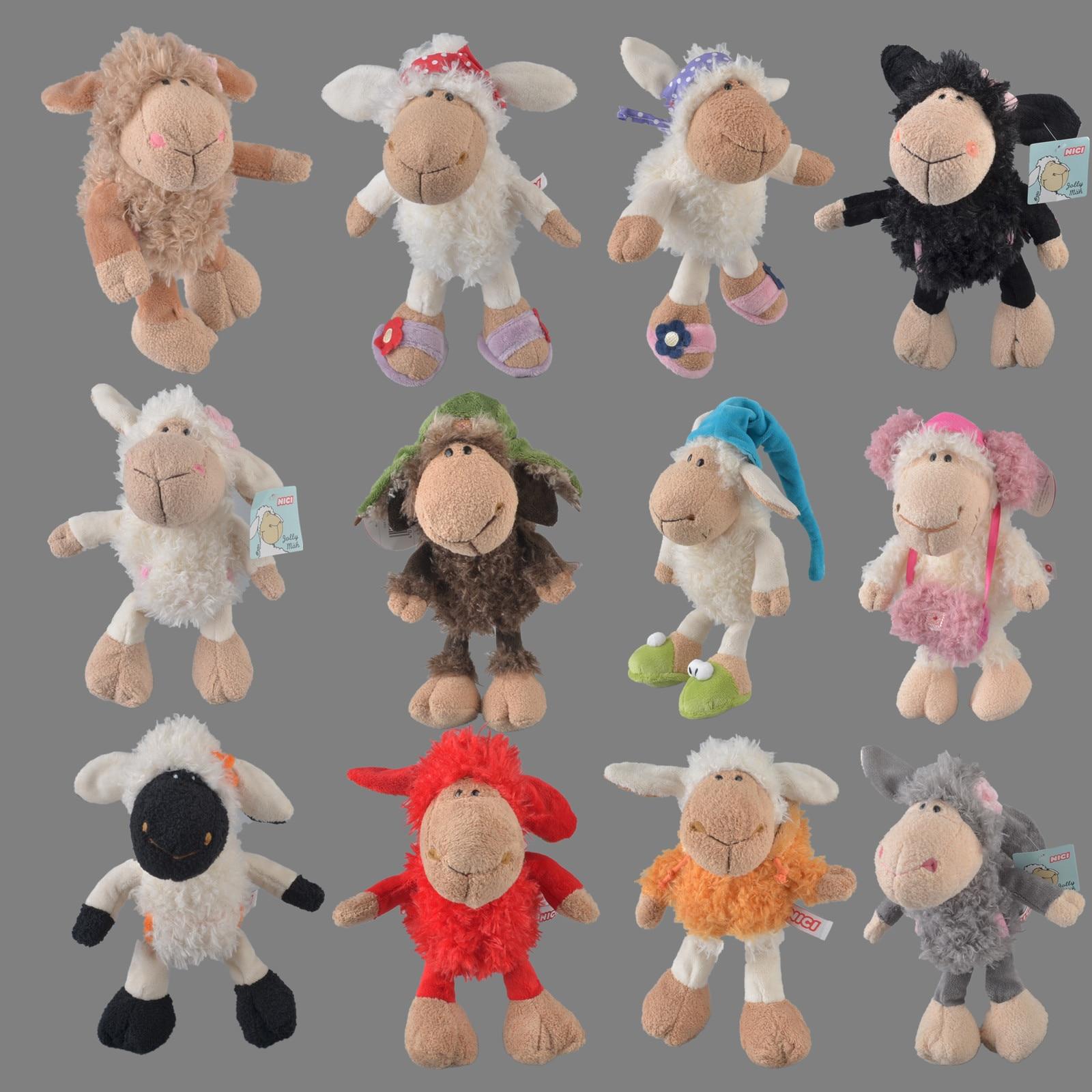 25 см-75 см розовая Люси овечка маленький овчик головной убор цветок овечка мягкая плюшевая игрушка, Детская кукла подарок Бесплатная доставк...