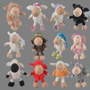 25cm-75cm Pink Lucy sheep Little lamb The Aries Headdress Flower Sheep Stuffed Plush Toy, Baby Kids Doll Gift Free Shipping(China)