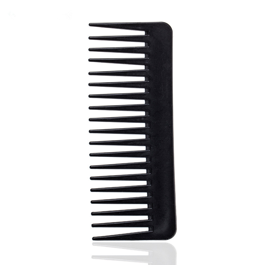 1PC New Pocket 19 Teeth Wide Tooth Comb Black ABS Plastic Heat-resistant Large Wide Tooth Comb For Hair Styling Tool