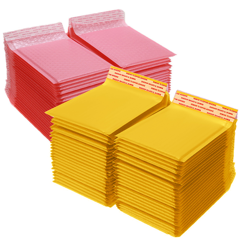 100pcs Bubble Mailers Pink Poly Bubble Mailer Self Seal Padded Envelopes Gift Bags For Book Magazine Lined Mailer Self Seal