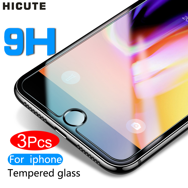 Protective tempered glass for iphone 7 6 6s 8 plus 11 pro XS max XR x glass iphone 7 8 x screen protector glass on iphone 7 6S 8 title=