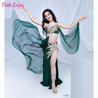 Luxury Belly Dance Costumes For Kids /Children /Girls Belly Dance Bra+Skirt Clothes Clothes For Stage Performance