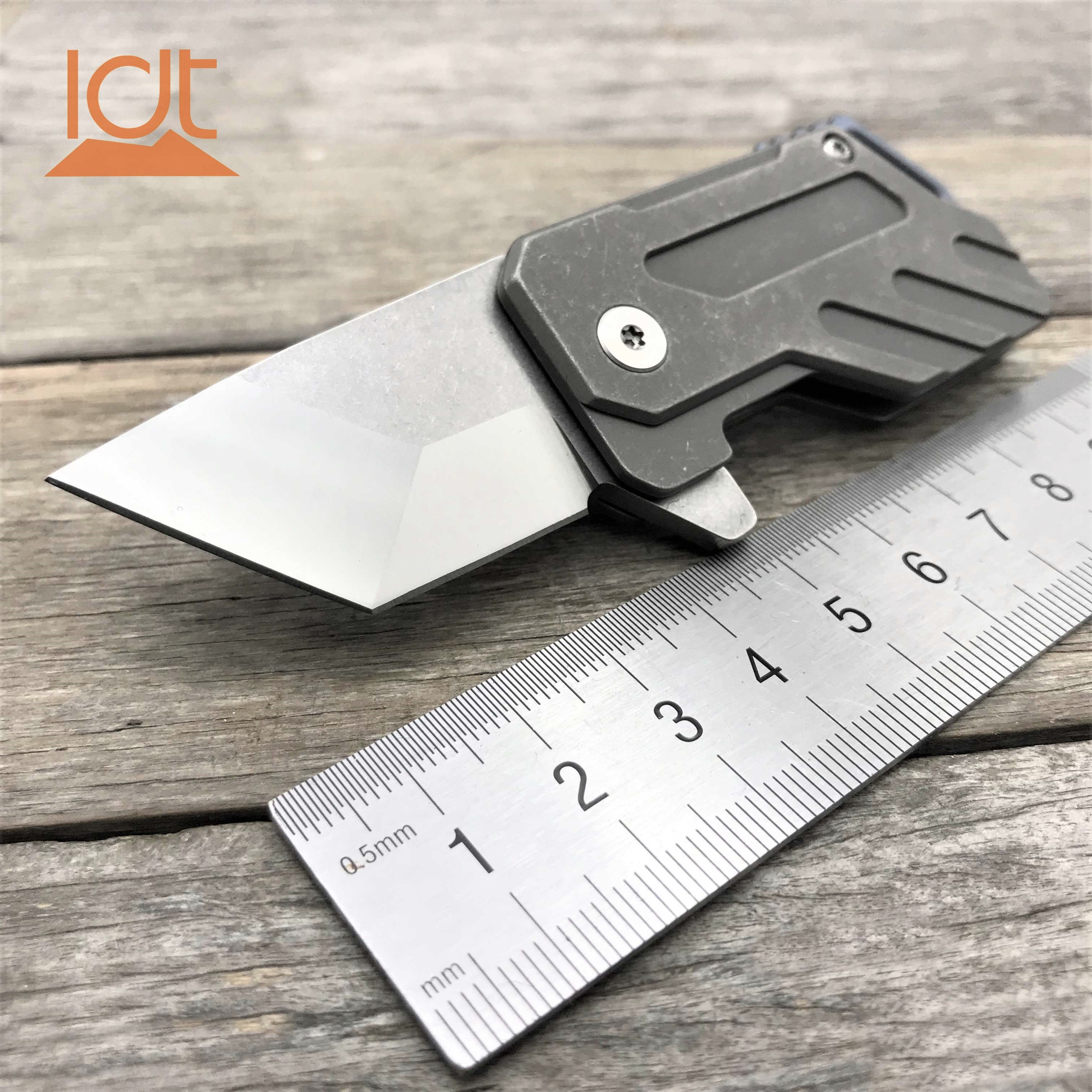 LDT Big Bean bearing Camping Knife S35VN Blade Titanium Handle  Outdoor Knives folding  Packet knife Hunting Survival EDC Tools|Knives| |  - title=