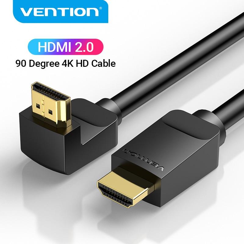Vention HDMI кабель 4K HDMI 2,0 кабель HDMI 90/270 градусов угловой адаптер для Apple TV PS4 сплиттер видео аудио 90 градусов HDMI кабель