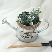 Vintage Metal Crafts Watering Flowers Home Decoration Succulents Flower Pots Vases Nordic Decoration Modern Home Decorations