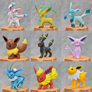 Original Eevee Vaporeon Jolteon Flareon Espeon Umbreon Leafeon Glaceon With Box Pokemonal Action & Toy Figures Collection Toy 2