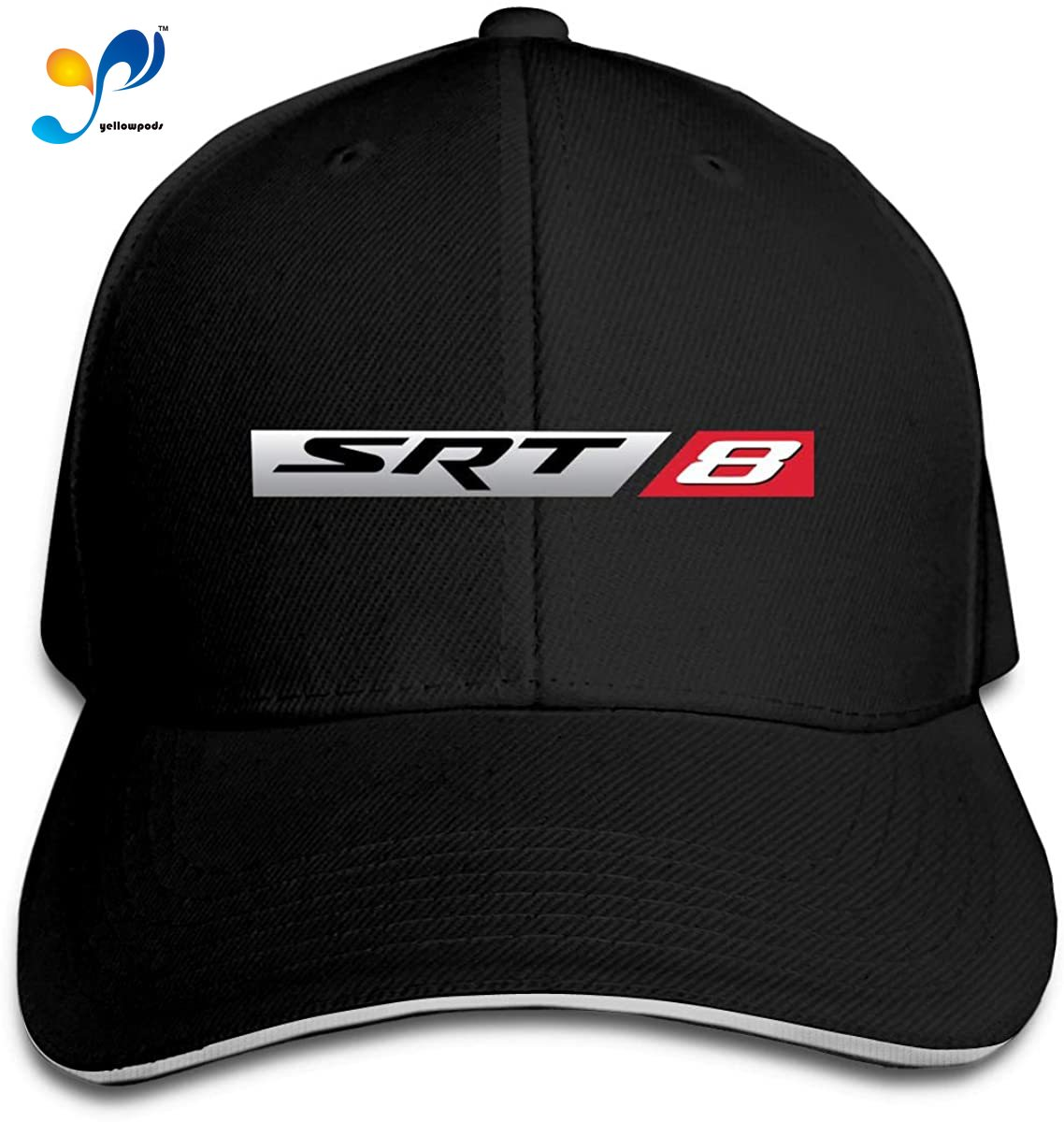Sandwich-Hat Baseball-Cap Golf-Trucker Hip-Hop Adjustable Black Muscle-Car-Srt8 Peaked