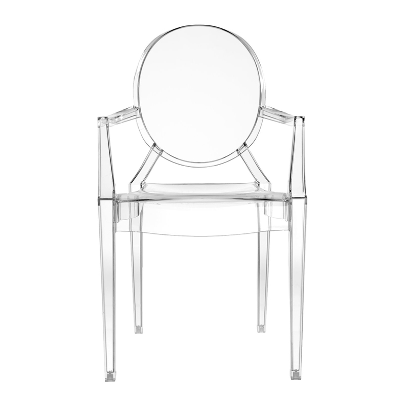 Acrylic crystal chair creative transparent chair plastic back devil ghost chair nordic dining chair wedding makeup chair