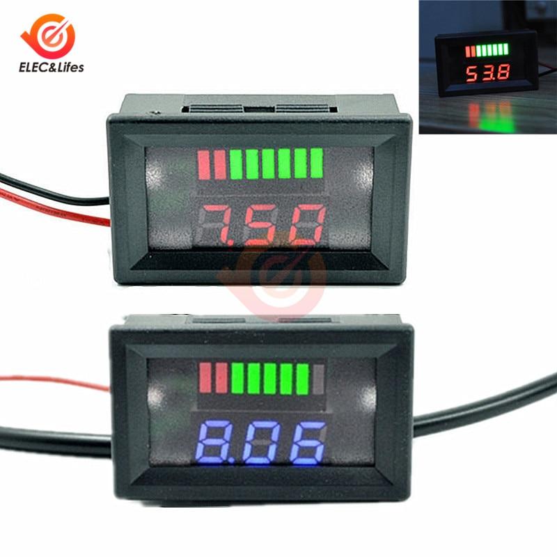 12 В автомобильный свинцово-кислотный аккумулятор уровень заряда светодиодный индикатор тестер батареи измеритель емкости аккумулятора де...