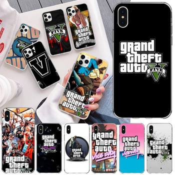 Grand Theft Auto GTA V Bling Cute Phone Case for iPhone 11 pro XS MAX 8 7 6 6S Plus X 5S SE 2020 XR cover image