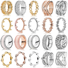2019 NEW Hot Sale 100% 925 Sterling Silver Rings Rose Gold F