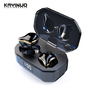 KAYINUO TWS Bluetooth Headphones 5.0 Stereo Bass Wireless Earphone Noise Cancelling Sports Headset Handsfree With Mic