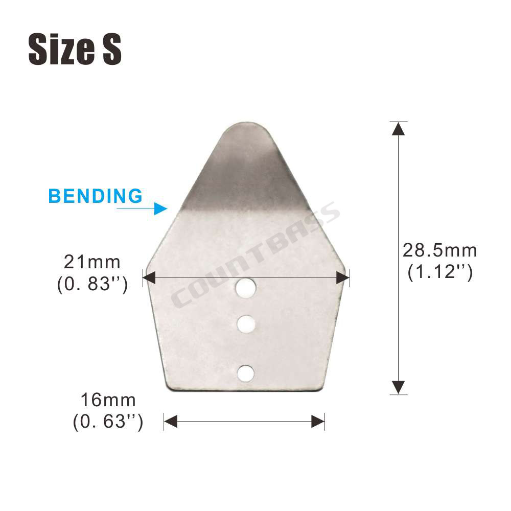 Bob4Bass Bent Coffin Blades 10 in a pack w//Split ring /& Duo Snap SHB