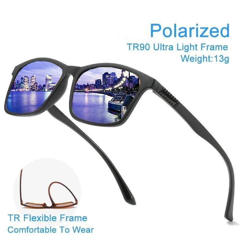 العلامة التجارية تصميم الكلاسيكية الاستقطاب النظارات الشمسية الرجال النساء القيادة إطار مربع نظارات شمس أنيقة الذكور حملق UV400 Gafas دي سول
