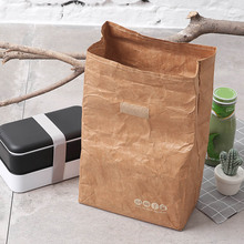 6L Lunch Bag kraft paper bag Reusable Box Sack Durable Insulated Thermal Snack Cooler Picnic Container Men Ice bags