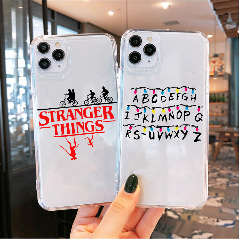 Stranger Things Christmas Lights Case for Iphone 11 Pro Max 7 8 Plus X XS XR XS MAX SE 2020 Silicone Transparent Clear Cases