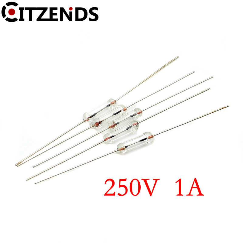 10pcs F1A//1.5A//2A//3A//5A Fast Blow Glass Tube Fuse Axial Leads 3.6 x 10mm 250 NMC