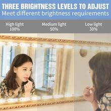 Wireless Motion Sensor 5V LED Vanity Makeup Mirror Light USB Power Make up Beauty lamp Desktop table Dressing mirror Decoration