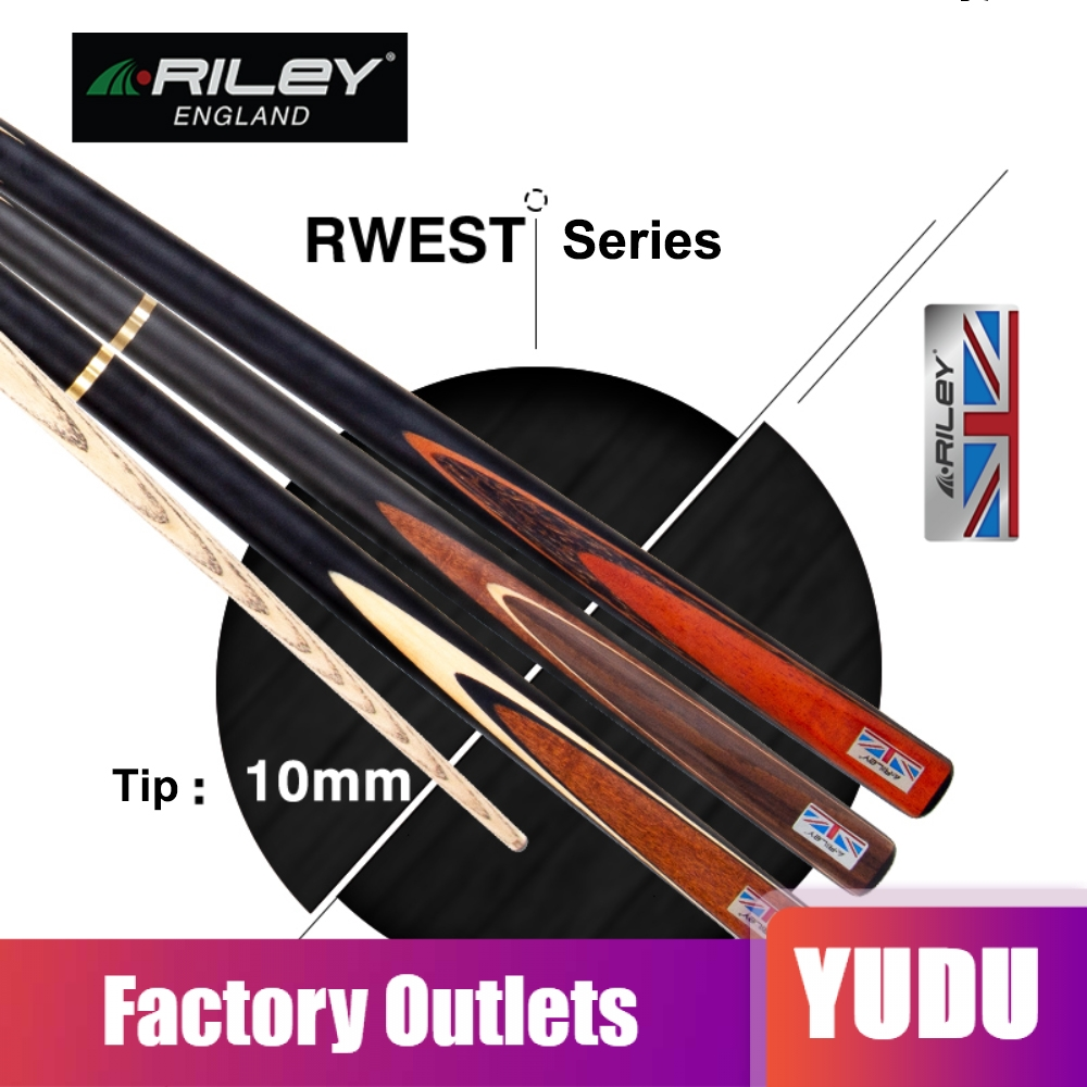 RILEY RWEST 3 4 Piece Snooker Cue Kit with Case Extension 10mm Deer Tip Billiard Snooker Stick High end Excellent Handmade 2019 in Snooker Billiard Cues from Sports Entertainment