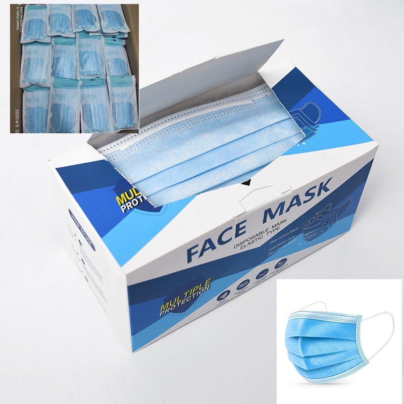 300 Mascarilla 50 100pcs 200 3-ply Meltblown Disposable Laye Hygiene Face Fabric Mask Masque Facemask Mouth Cap Filter P2.5 F 2