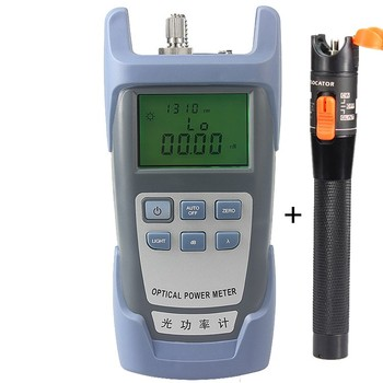 2 In 1 FTTH Fiber Optic Tool Kit King-60S Optical Power Meter -70 to +10dBm and 10mW Visual Fault Locator Fiber optic test pen joinwit jw3208a portable 70 3dbm fiber optic power meter used in telecommunications free shipping