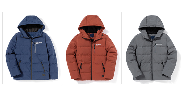 H09f030a3e9324a619a4baf630bf0d438G Printed hooded warm jacket