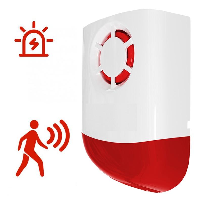 Newest 120dB Weatherproof Smart Wireless Siren External Flash LED Strobe Outdoor Siren For Home G2B O2B GSM Alarm System US Plug