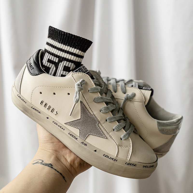 Old Dirty Shoes, Women's Stars, Silver Retro Sports Shoes, School Shoes, New Fashion In Autumn