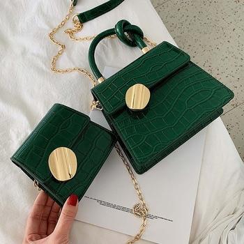 Quality Stone Pattern Leather Crossbody Designer Small Handbags Chain Shoulder Messenger Bag Mini Purses Hand Bag