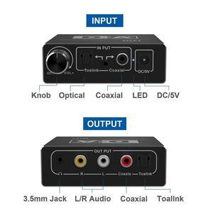 Image 3 - デジタルアナログオーディオコンバータ光 Toslink 同軸アナログ RCA L/R 3.5 ミリメートルジャックオーディオアダプタ xbox HD DVD ブルーレイ PS3
